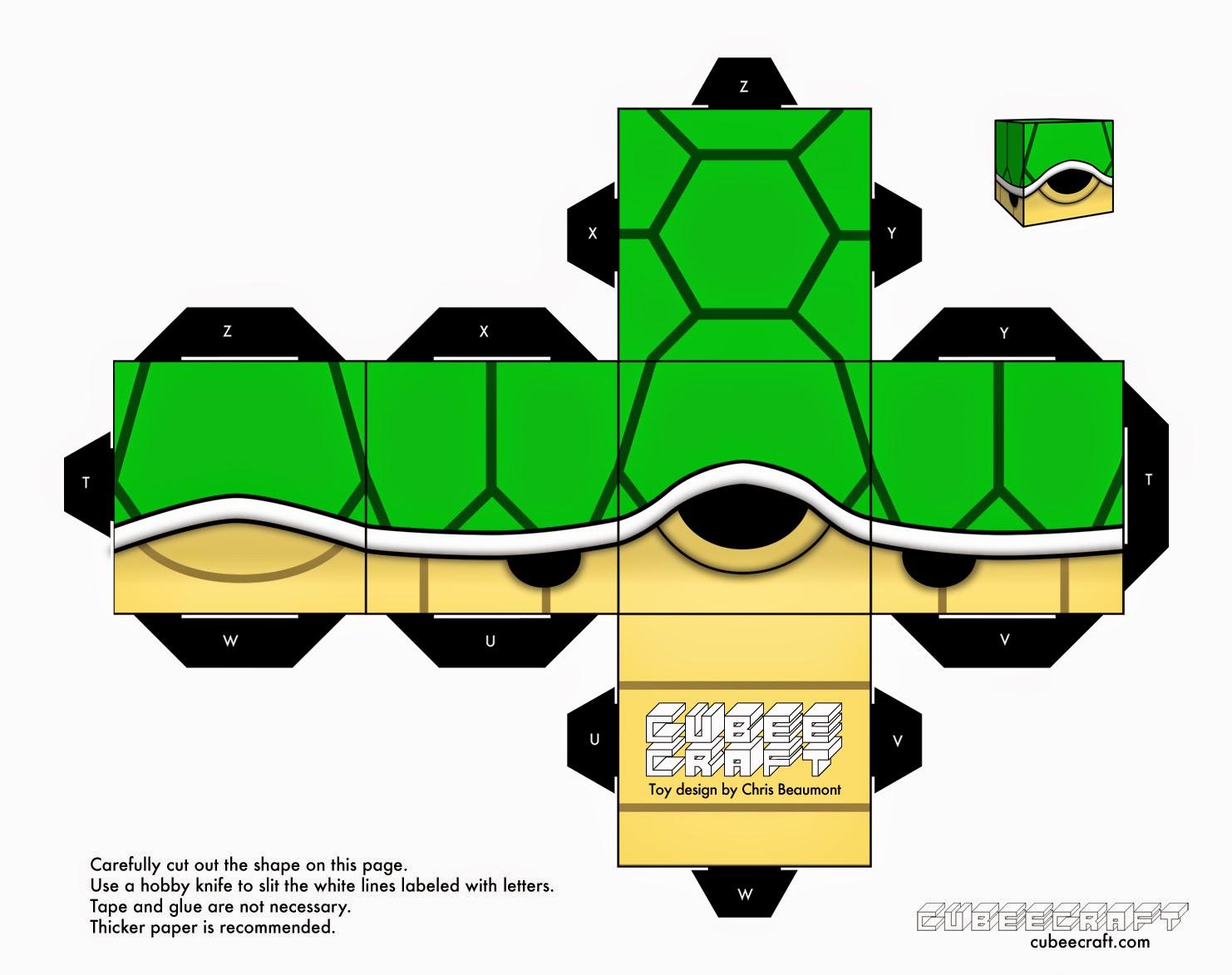 Papercraft Caparazn Verde Its Me Mario