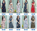 2018 Spring New Plus Size Floral Print Smooth Cotton Dress