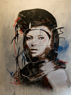 painting, btoy, acrylic, stencil, street art