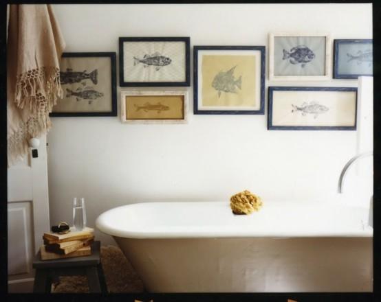 Dep sito santa mariah peixes tamb m decoram - Quadri in bagno ...