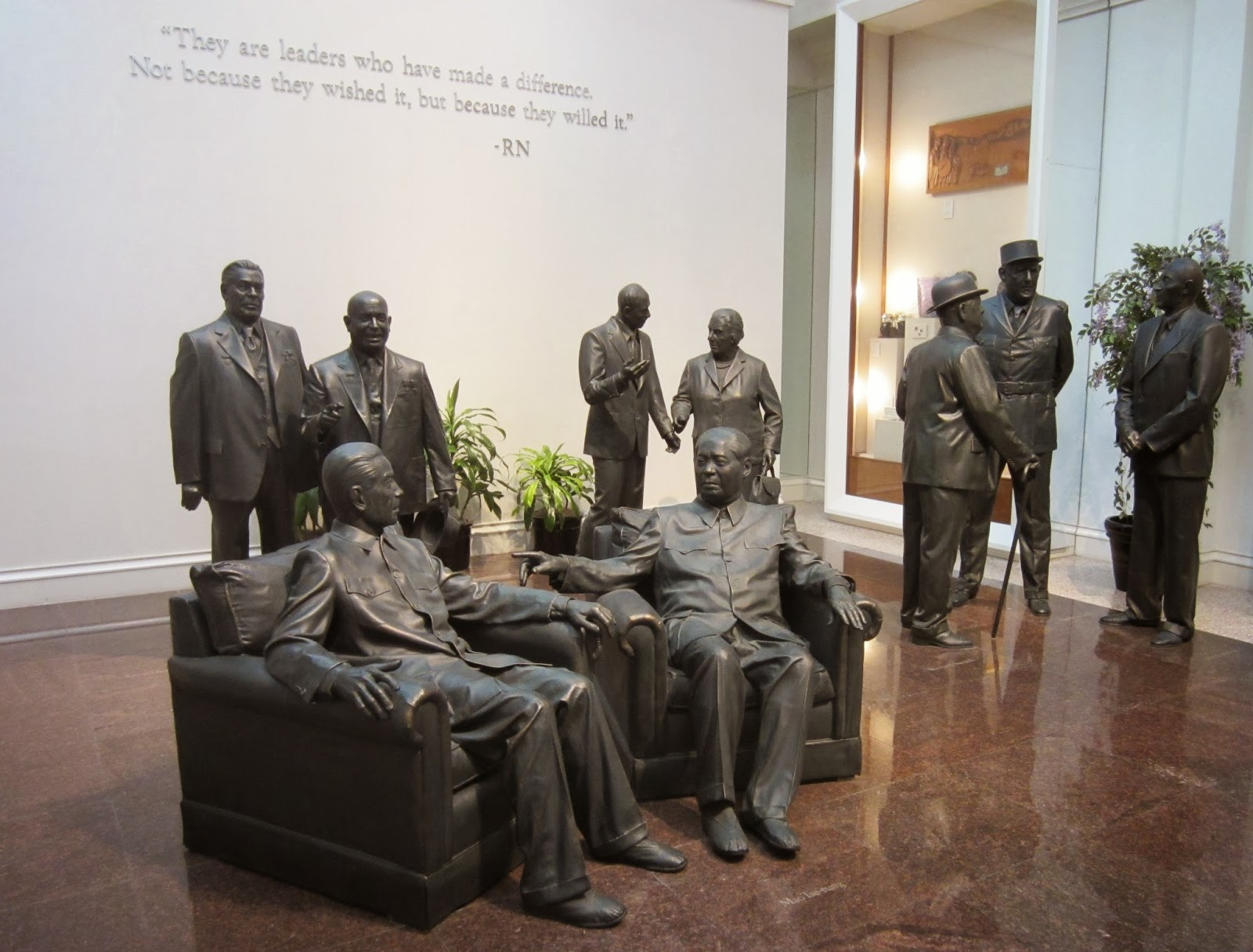 Image result for mao statue in nixon library