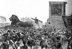 Trafalgar Square Riot 1886