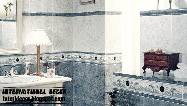 Luxury And Classic Wall Tiles Design For Bathroom Tile Scheme