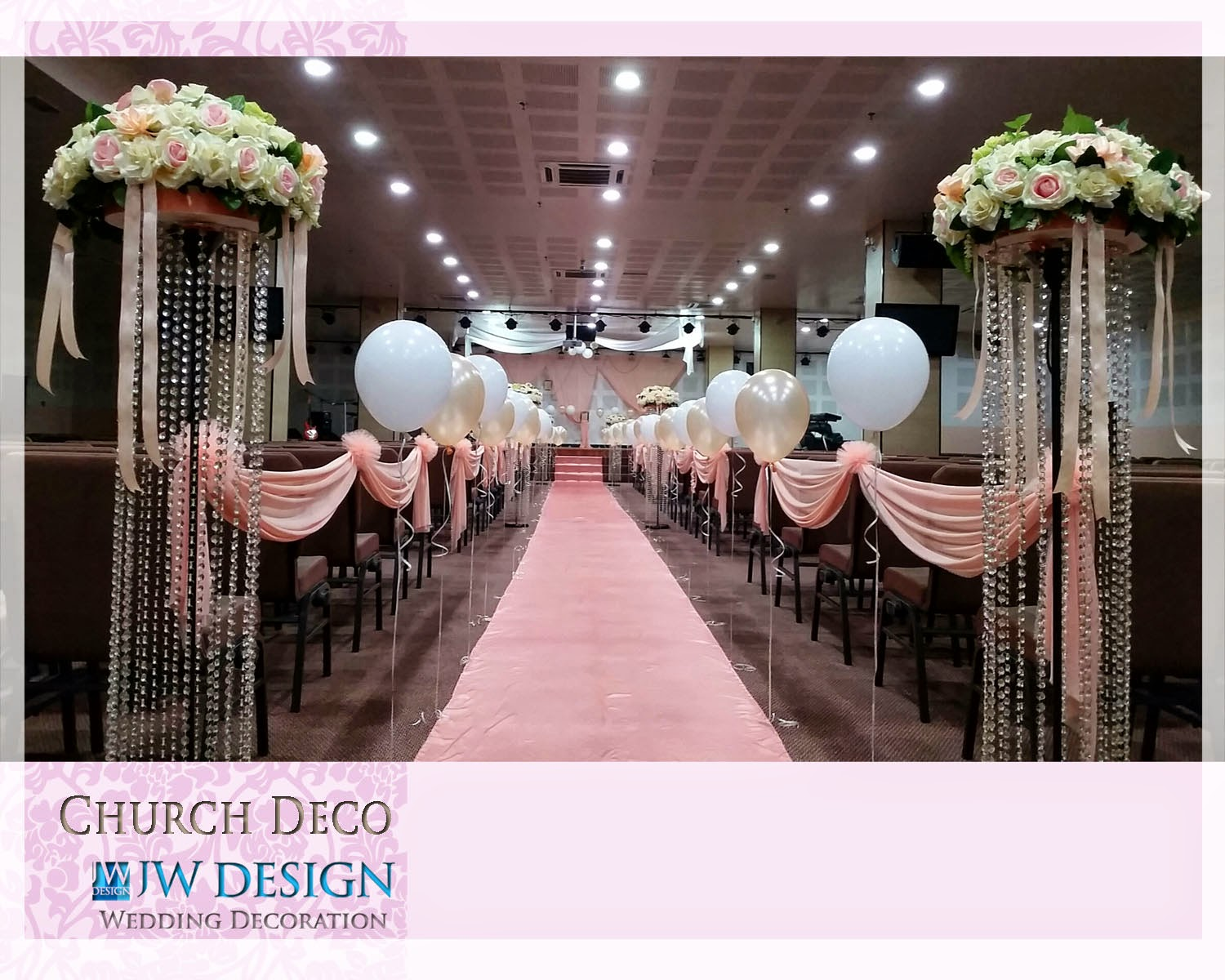 Jw design wedding decoration church wedding decoration junglespirit Choice Image