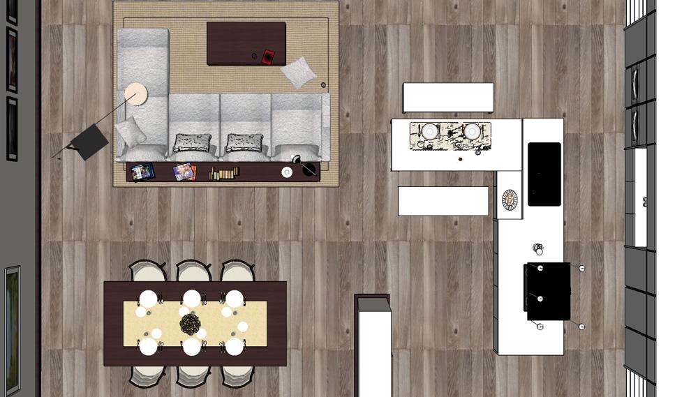 SKETCHUP TEXTURE: Free sketchup model modern living room #34 vray visopt