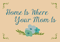 Home Is Where Your Mom Is Mothers Day Card