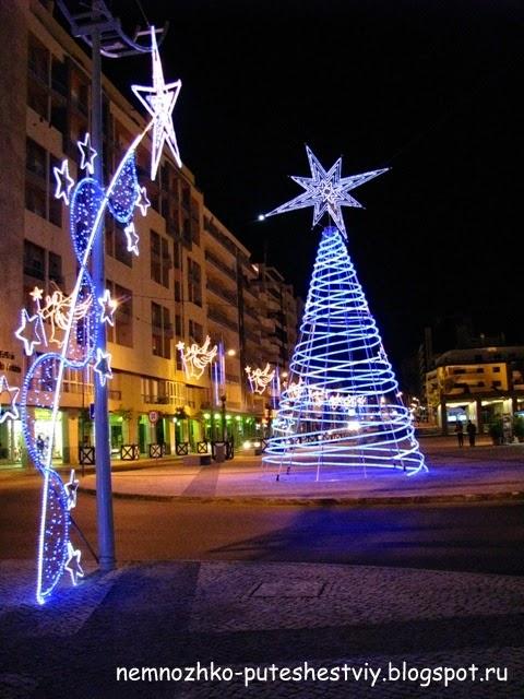 португалия, альгарве, фару, рождественский фару,