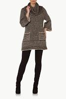 Pulover tricotat, cu model crem-negru ( )