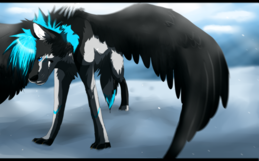 Angel Wolf With Wings