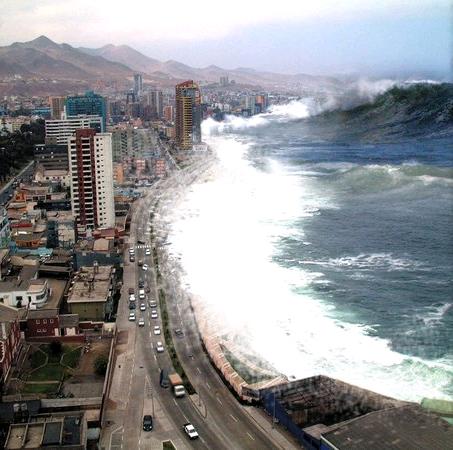 Mơ thấy ở biển & gặp sóng thần