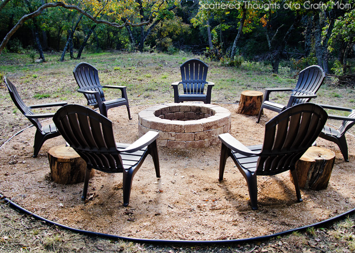 Easy Backyard Fire Pit Designs : How to make a very simple and easy firepit