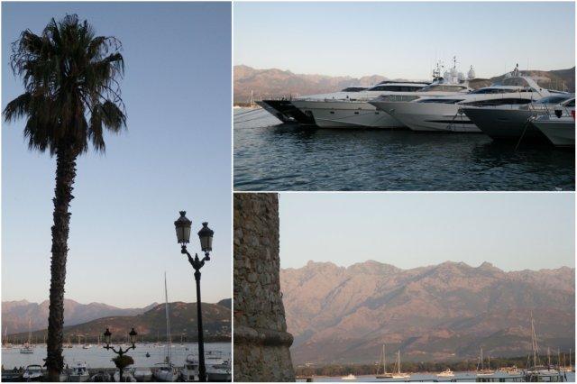 Atardecer en el Puerto deportivo de Calvi  en Corcega