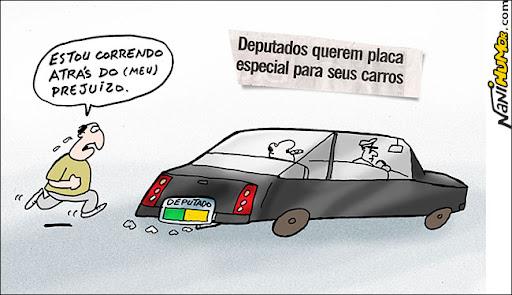 deputados querem placa especial para seus carros
