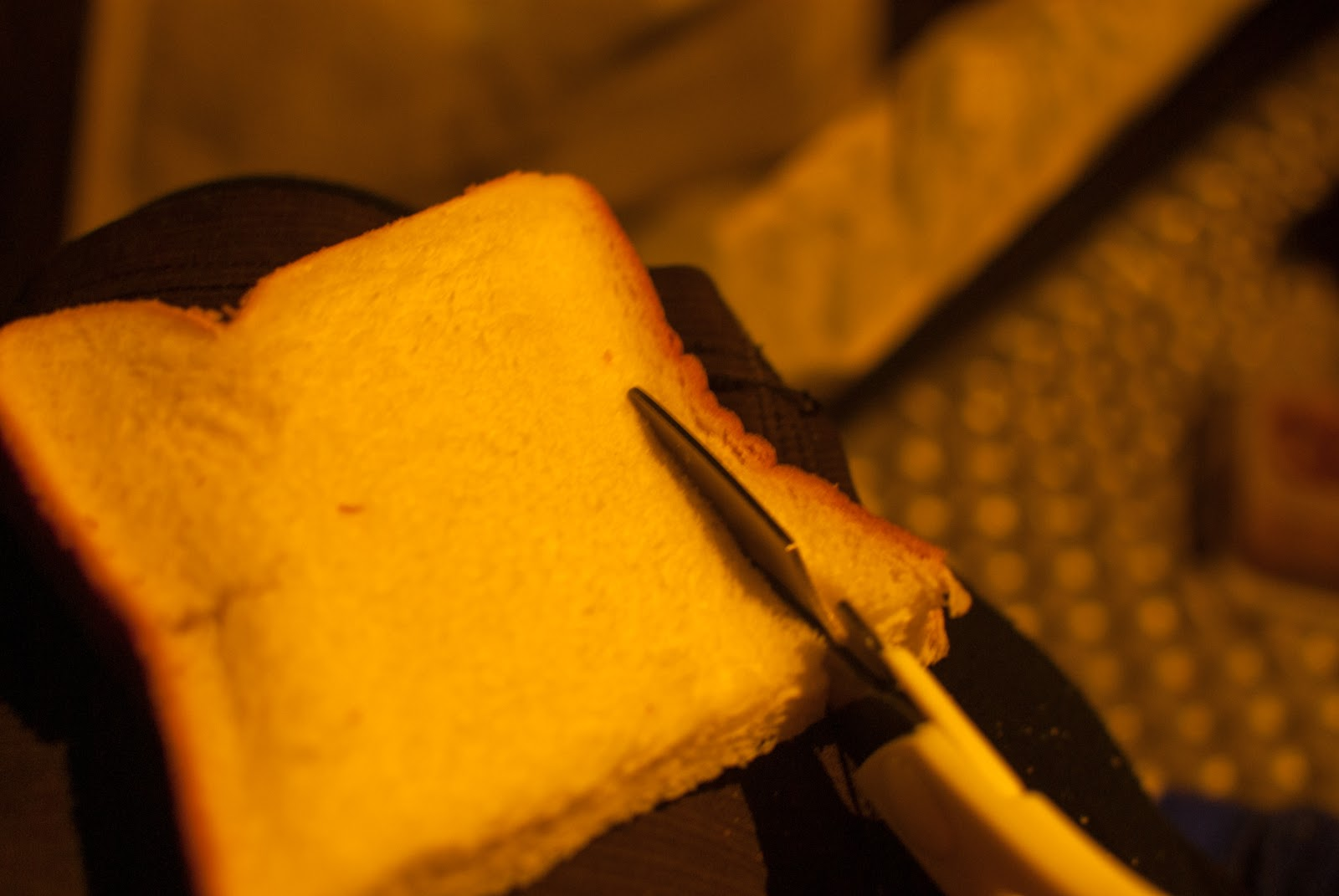 パンの耳 キッチンバサミ カット