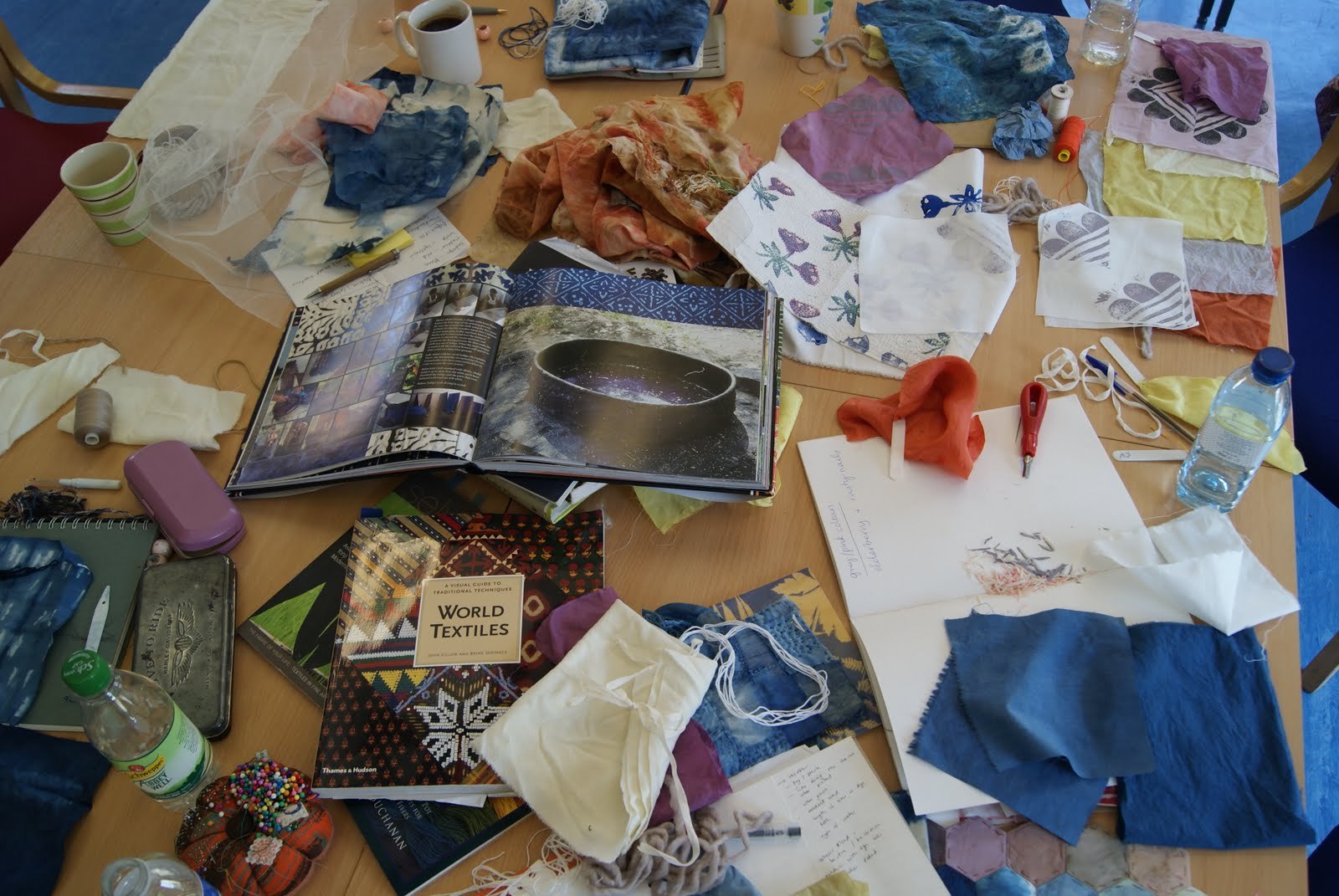 Clarabella natural dye workshop for The art and craft of natural dyeing