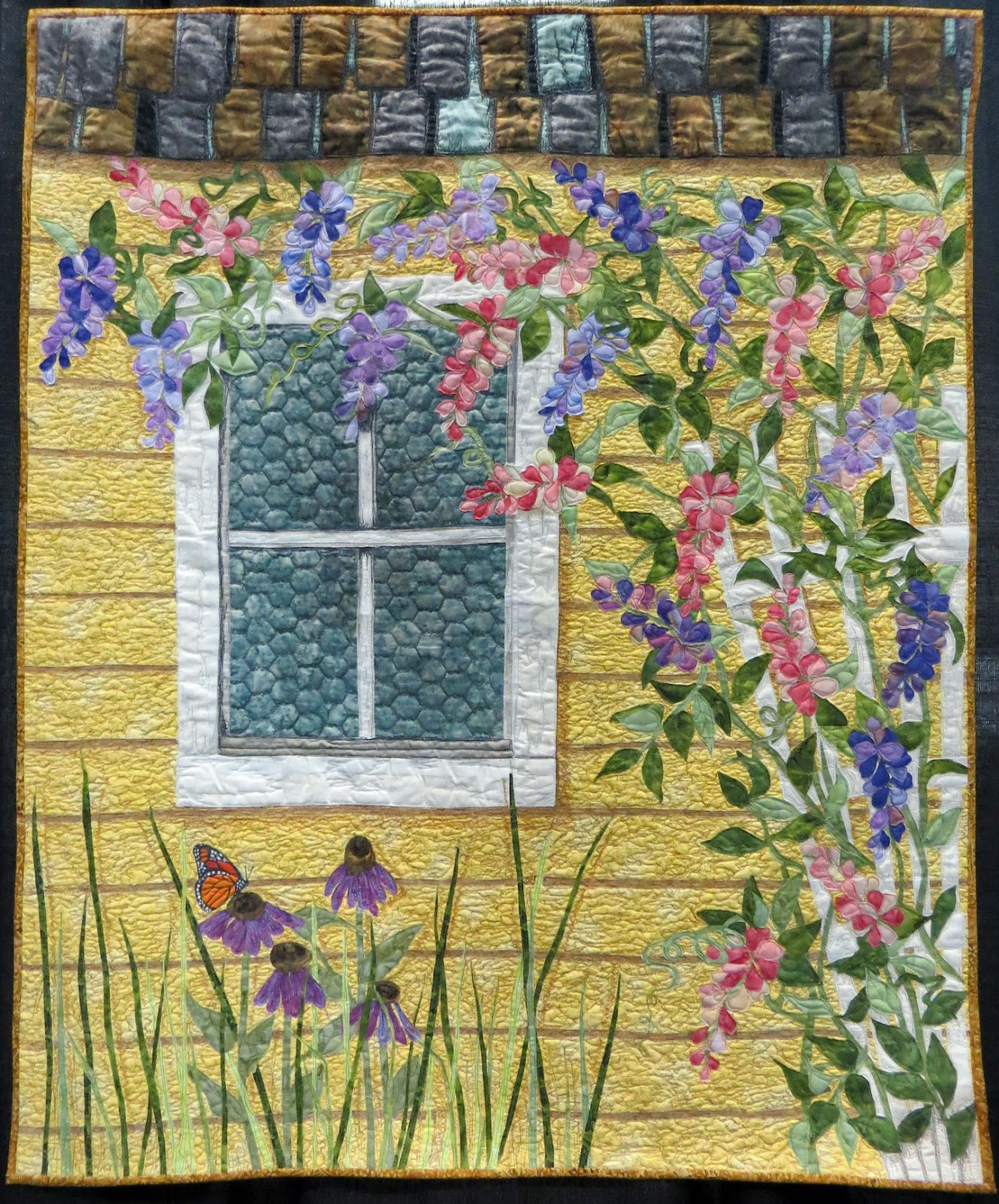 Cathy geier 39 s quilty art blog in full bloom and flower for Garden shed quilting