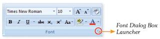 Font dialog box.
