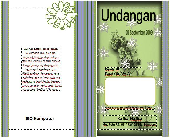 Download Template Motif Undangan Pernikahan Format Word Gampang Diedit