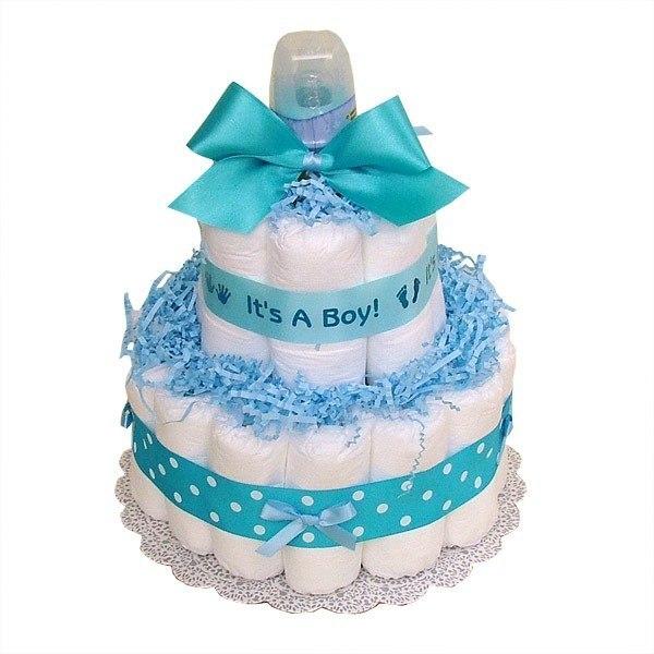 Для новорожденных торты из памперсов