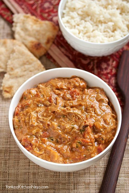 Easy, healthy recipe for chicken tikka masala made effortlessly in a slow cooker
