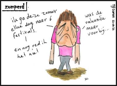Zomperd - festivalstress
