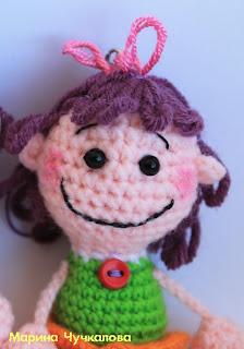 маленькая куколка крючком