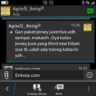 gambar testimoni screen shot enkosa sport Testimoni Agus Suyatno di enkosa sport toko jersey terpercaya kualitas grade ori made in thailand