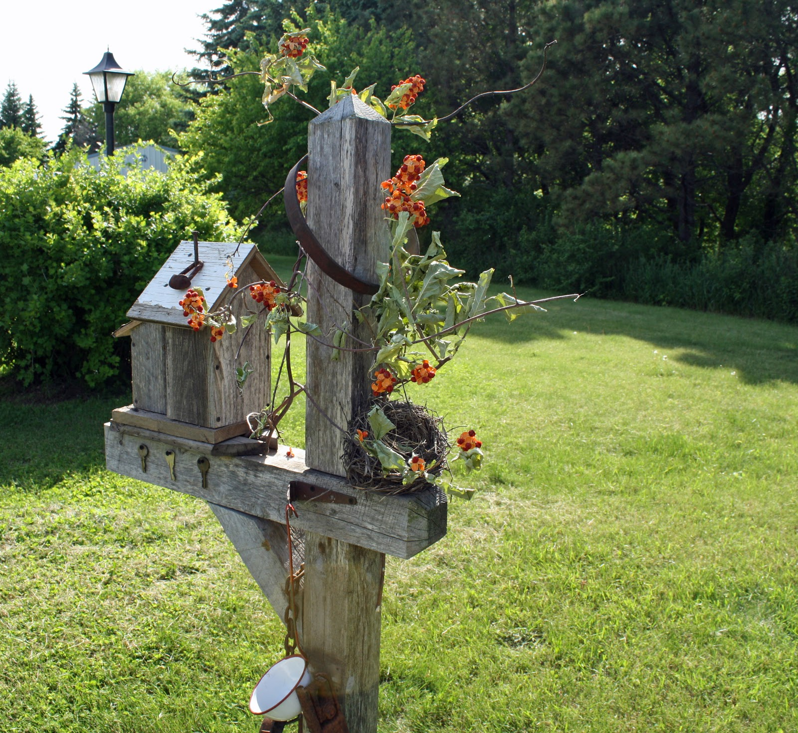 Dragonflys And Stars Junk Style Garden Decor