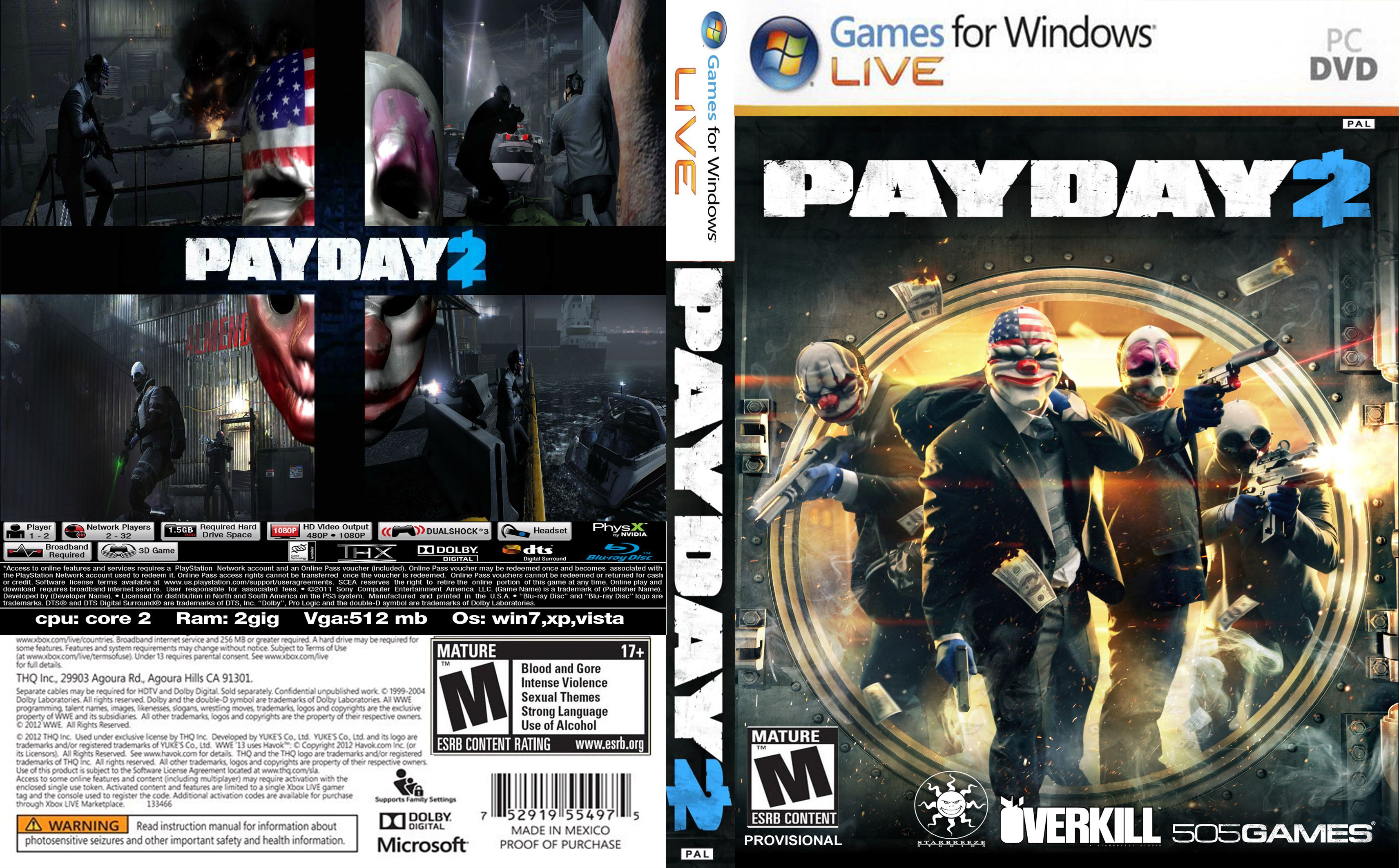 Capa Payday 2 PC