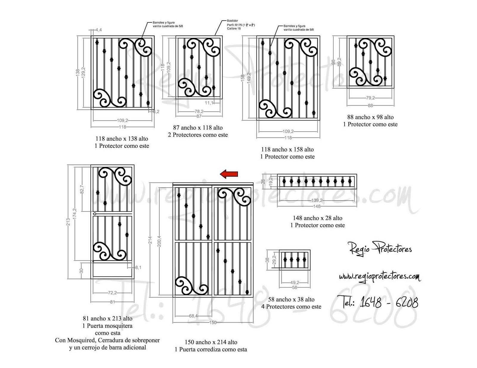 Protectores para ventanas y puertas de hierro forjado, Fracc. Fuentes