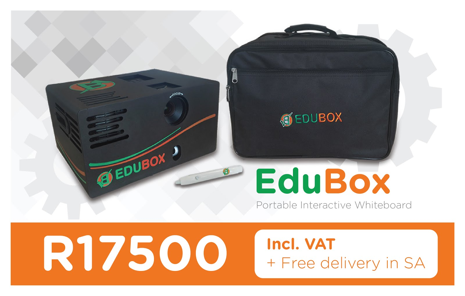 Mobile / Portable interactive whiteboard in a box - Plug and play with your laptop