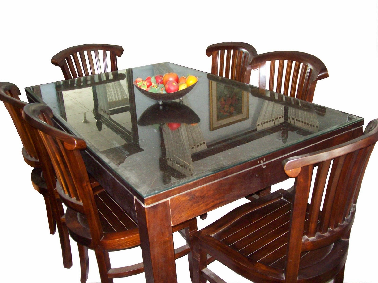 meja makan elita kayu jati modern
