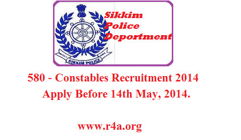 Sikkim police recruitment 2014