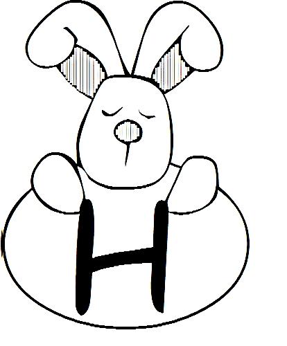 a desenhar letras do alfabeto letra H colorir