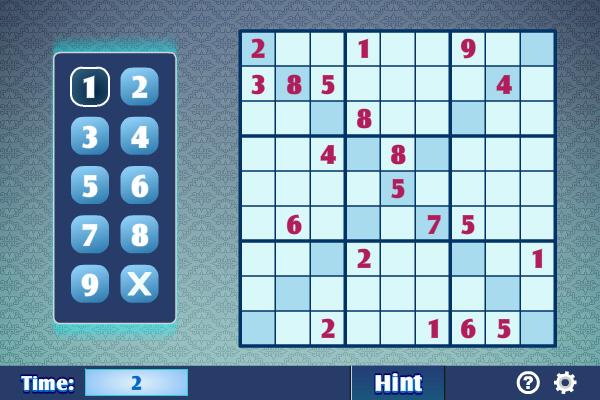 لعبة سودوكو Sudoku X