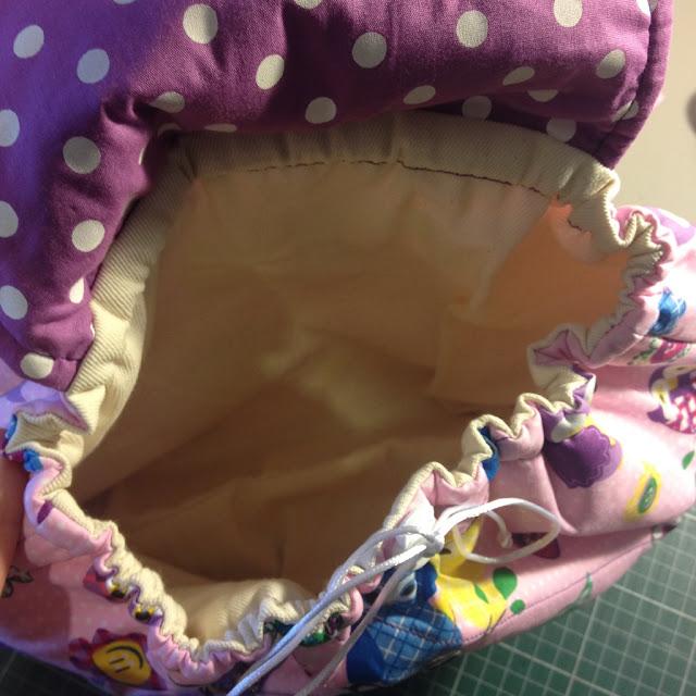 Mochila infantil tecido de coruja @ateliemadrica