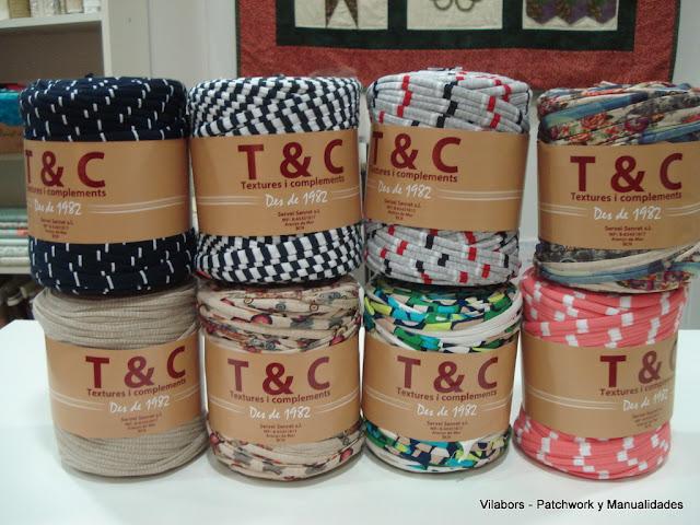 Bobinas de Trapillo de colores y diseños variados