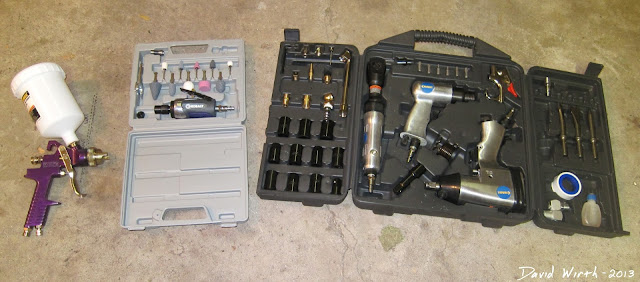 must have air tools, impact wrench, grinder, costco