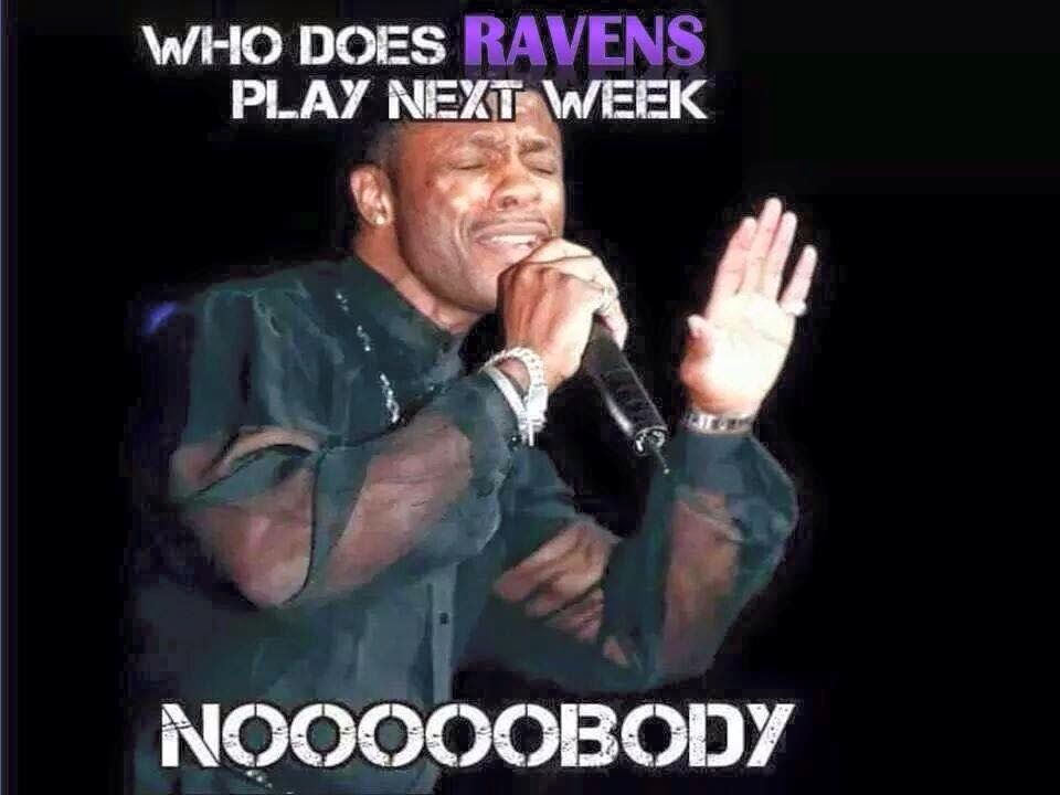who does Ravens play next week nooobody