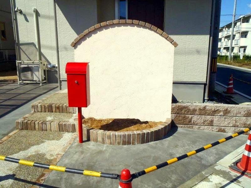 福知山ハウジング 門柱 施工