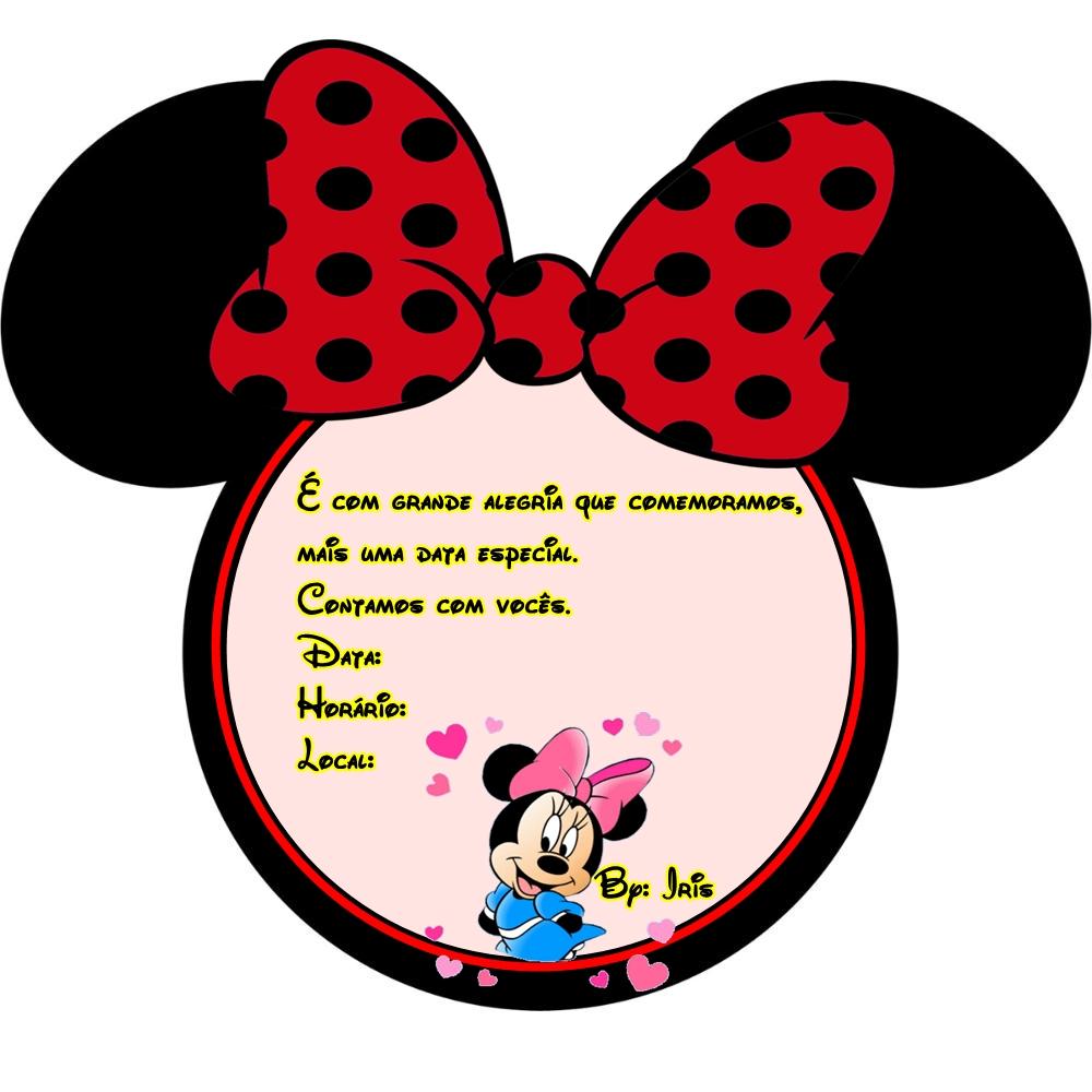 Convites da Minnie para Imprimir  Grátis  Toda Atual