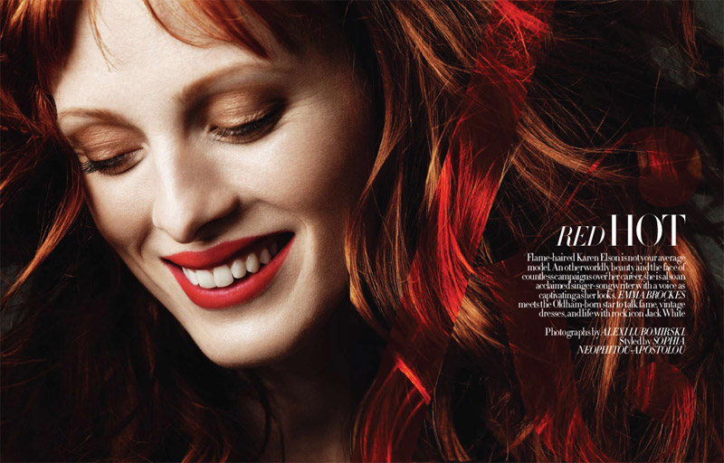 Karen Elson in Red Hot Dashing Photos