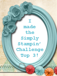 Simply Stampin&#39; Challenge Top 3 - Challenge #49