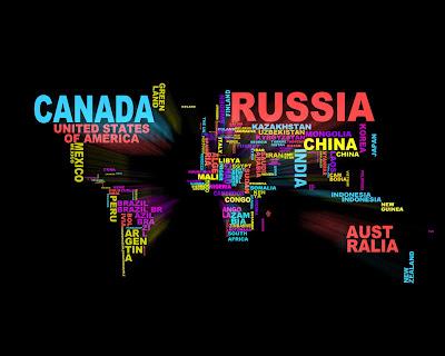 Mapamundi, Los paises del mundo