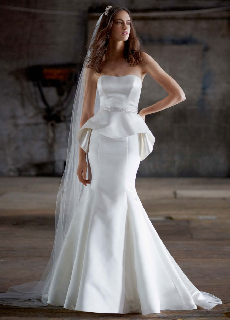 The classy woman fashion friday wedding dress trends for Peplum dresses for weddings