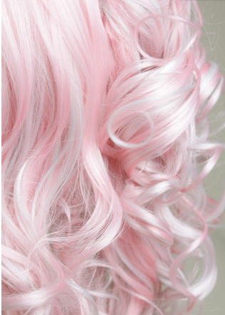 candyfloss pink dip dyed pink ends not pink i grant