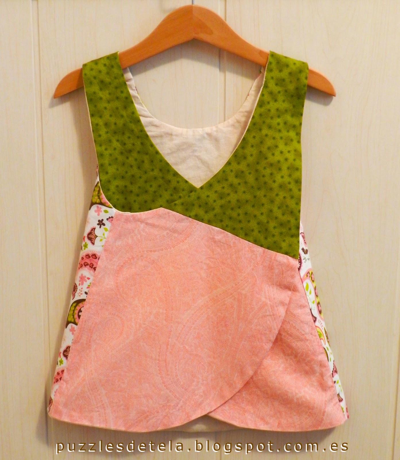 Pinafore dress, vestido verano, ropa infantil, ropa niña, patchwork, blusa verano, Cosotela,