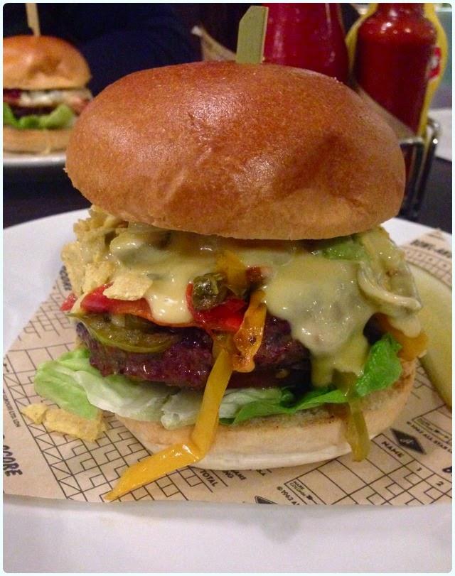 All Star Lanes, Manchester - Nacho Burger