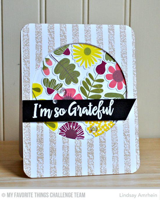 I'm So Grateful Card by Lindsay Amrhein featuring the Fall Florals stamp set and Die-namics and the Thanks So Much stamp set #mftstamps