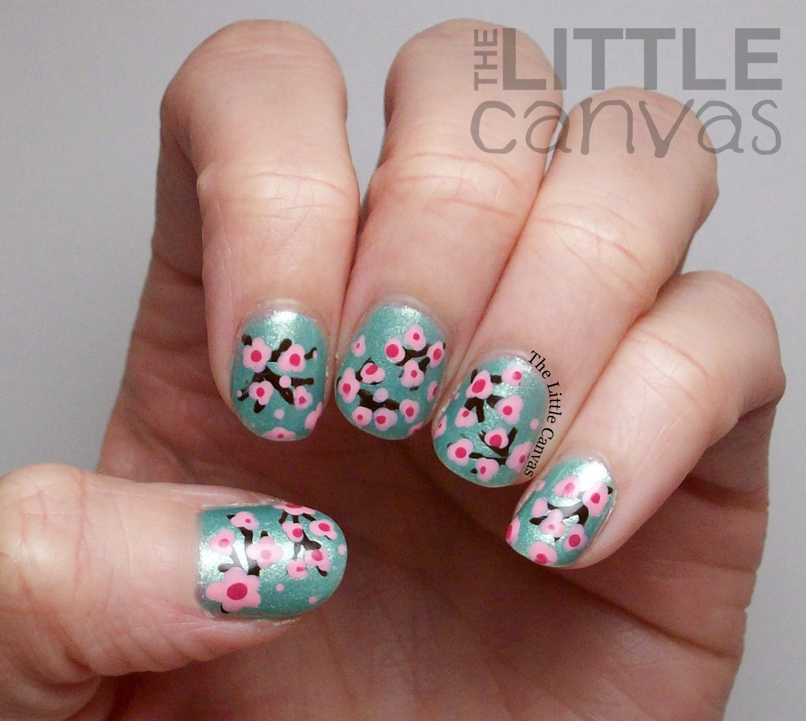 Cherry Blossom Nail Art with Zoya Dillon - The Little Canvas